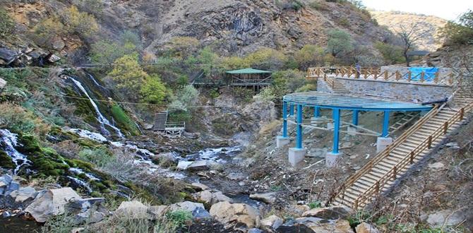 Şiran'da Tomara Şelalesi Cam Terasına Kavuşuyor